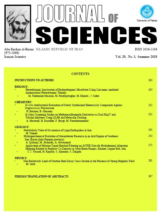Journal of Sciences, Islamic Republic of Iran